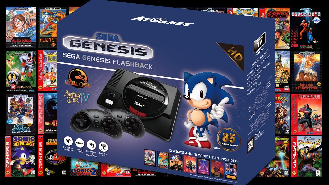 Atgames hd sega genesis 2017 game list price youtube - Atgames sega genesis classic game console game list ...