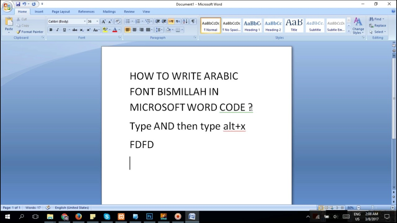Add On Arabic In Microsoft Word