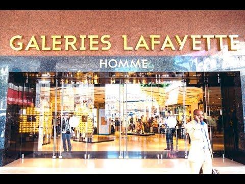 lafayette galeries haussmann shopping mall in paris france hd