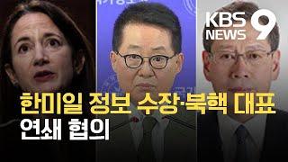 한미일 정보수장 내일 서울서 회동…한반도 연쇄협의 속도…