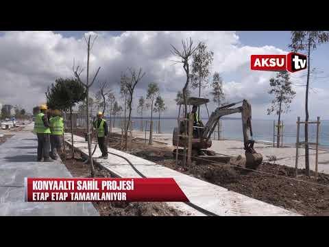 Konyaaltı Sahil projesi etap etap tamamlanıyor...