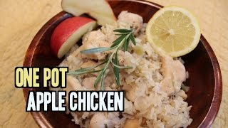 One Pot Apple Chicken with Rice