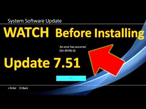 PS4 System Software Update 7.51 - Error SU-30746-0
