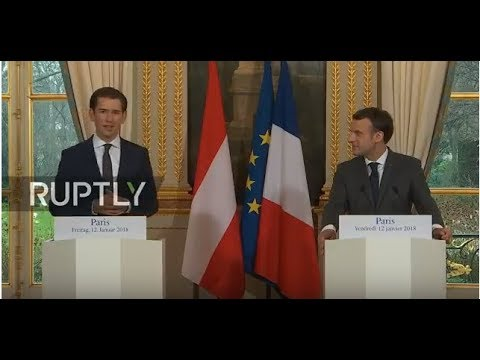 LIVE: Macron holds joint press conference with Kurz in Paris