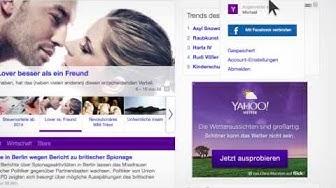 Die neue Yahoo Startseite