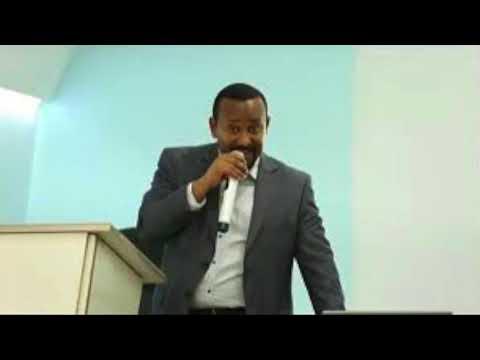 Prime minster dr Abey preaching gosple