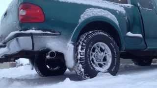 1998 Ford F150 Stock exhaust vs Resonator exhaust tip vs Flowmaster Super 44