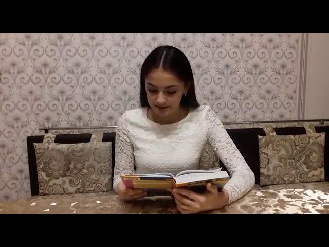 Изображение предпросмотра прочтения – КамиллаМасалиева читает произведение «Шинель» Н.В.Гоголя
