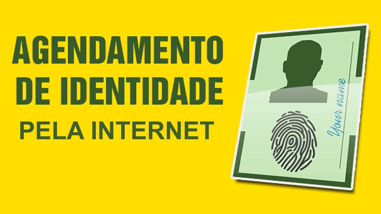 Agendar Identidade pela Internet - YouTube  Agendamento