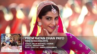 prem ratan dhan payo (lyrice) full song