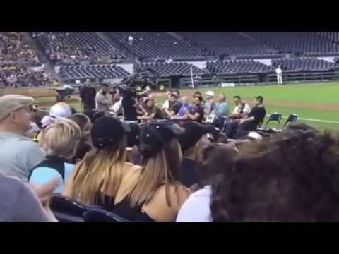 Pittsburgh Pirates Faith Night introductions 2016