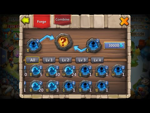 Castle Clash Forging 50 Level 2 Crests For Psysheild Crest Set
