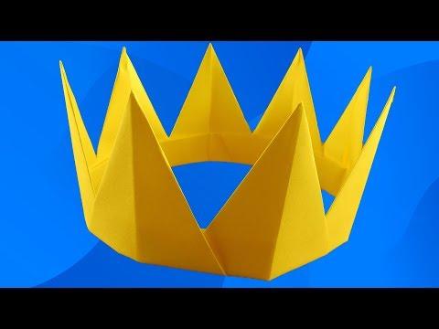 Оригами Как сделать КОРОНУ ИЗ БУМАГИ своими руками. How To Make A Paper Crown
