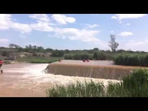 Paddling Cradock Weir - Fish River Marathon 2015