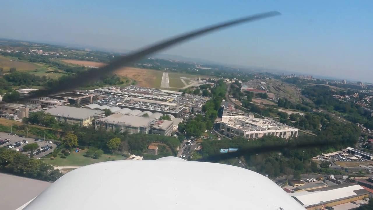 Aeroporto Urbe : Cessna landing at urbe airport atterraggio urbe aeroporto