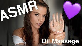 ASMR Gina Carla 🤗💜 Oil Hand Massage! High Sensitive Mi...