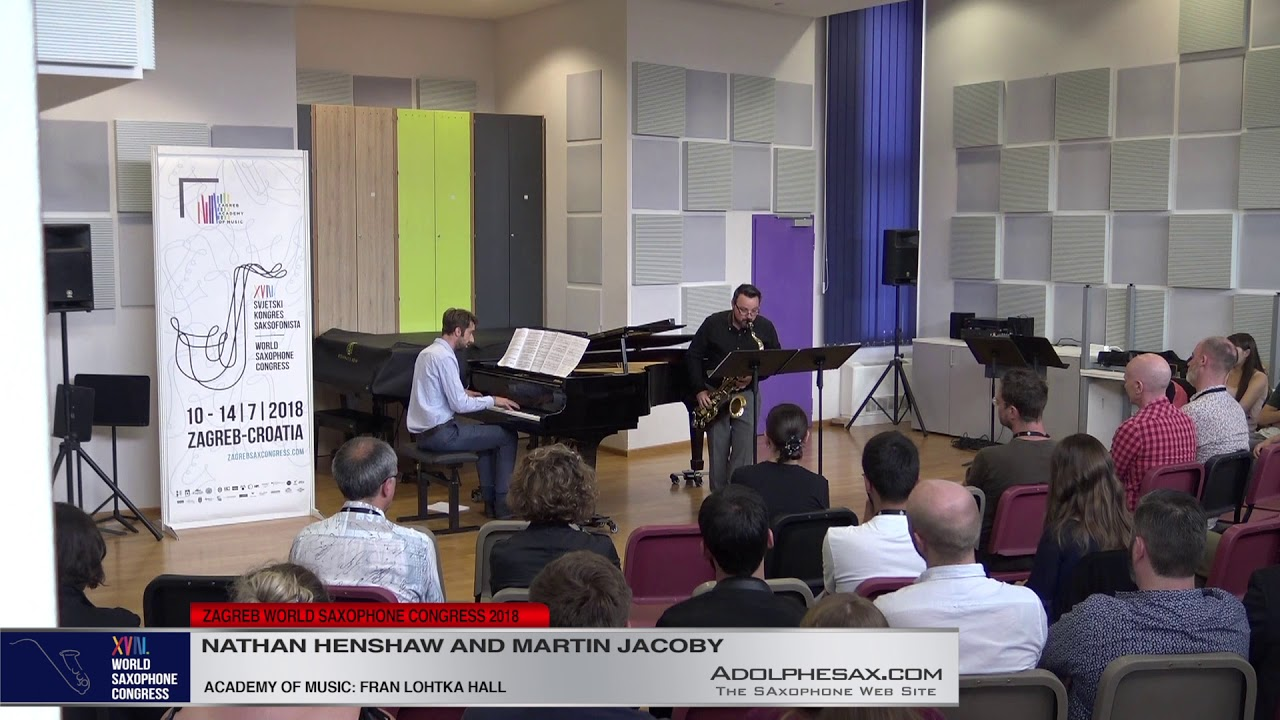 Sonata by Drew Crawford   Nathan Henshaw & Martin Jacoby   XVIII World Sax Congress 2018 #adolphesax