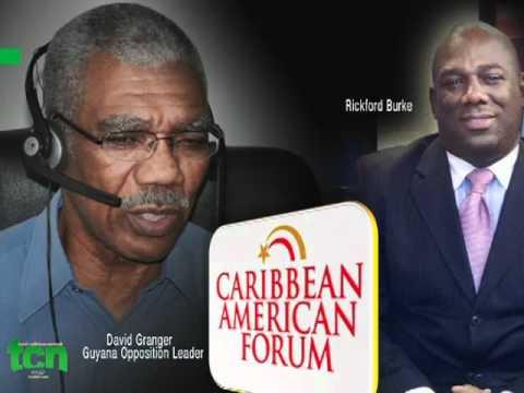 Caribbean Americn Forum Guyana's Opposition Leader #4