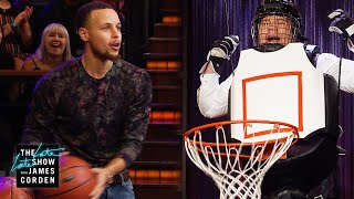 Human Basketball Hoop w/ Stephen Curry