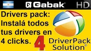 Como bajar todos los drivers de tu pc con Drivers pack
