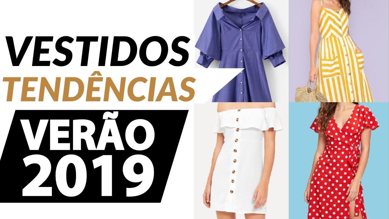 c3da2bbf2 TENDÊNCIAS VERÃO 2019 +100 VESTIDOS