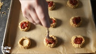 Mindy Segal's Peanut Butter & Jelly Thumbprint Cookies