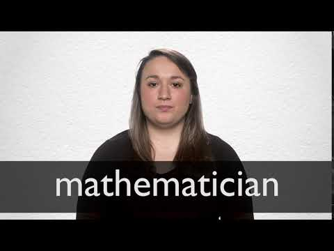 How to pronounce MATHEMATICIAN in British English