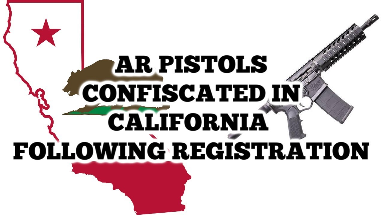 Man Has Firearms Confiscated As A result Of Registration in California