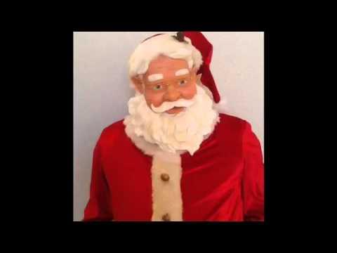 Gemmy 5' Ft Animated Dancing Singing Santa Microphone Karaoke