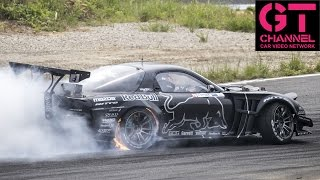 Mad Mike in Twin Turbo 4 Rotor RX-7 Wins Formula Drift Japan