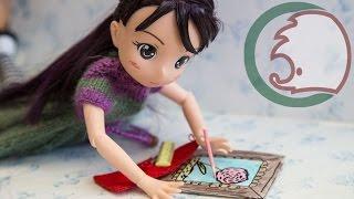 Как сделать карандаши и пенал для куклы. How to make pencilbox for a doll.