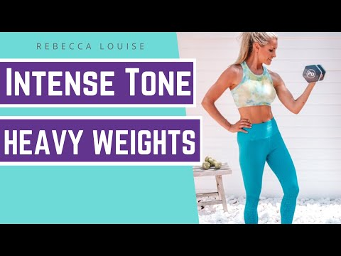 HEAVYWEIGHTS summer body workout - 10 minute STRENGTH training! | Rebecca Louise