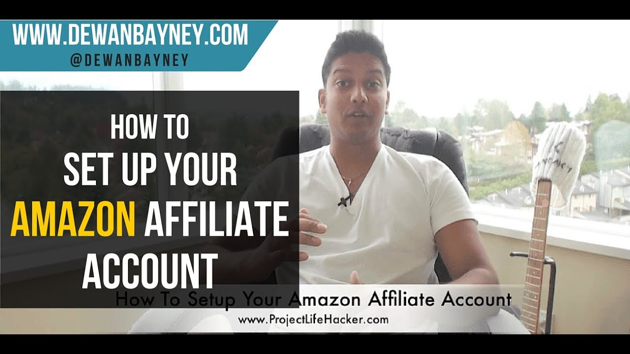 how to set up an amazon affiliate account