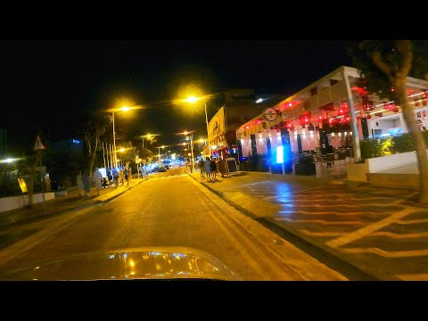 Just night ride by Protaras Streets - Cyprus Summer 2021 5k 4k 2k UHD