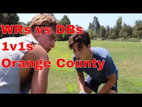 1v1s ?????? Orange County high school football players working on their game ????????????????????????
