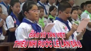 Giáo xứ Tân Việt-Thiếu nhi Rước Chúa lần đầu
