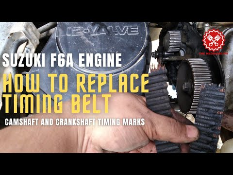 HOW TO REPLACE TIMING BELT | SUZUKI MULTICAB F6A | PROPER TIMING OF CAMSHAFT AND CRANKSHAFT