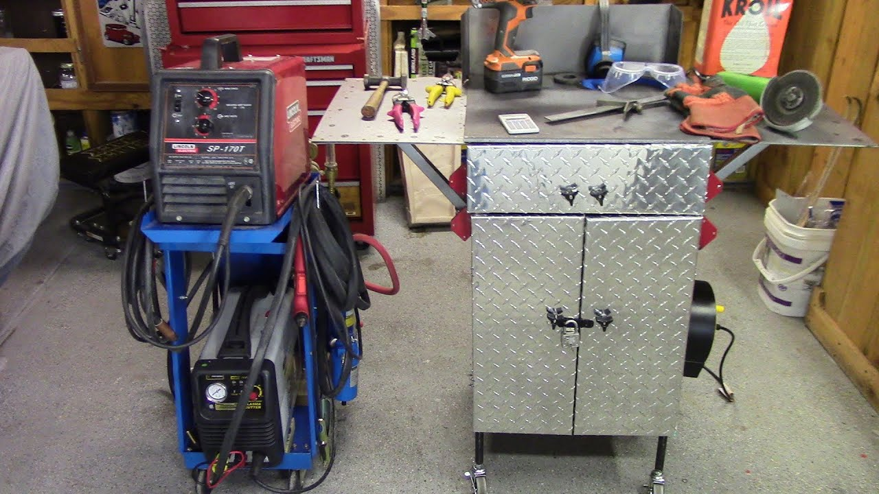 Steves Garage Portable Welding And Plasma Cuttung Table Youtube Wiring For Welder