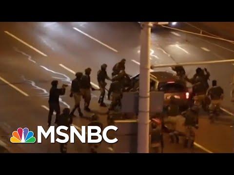 Protests Erupt In Belarus Amid Secret Inauguration | Morning Joe | MSNBC