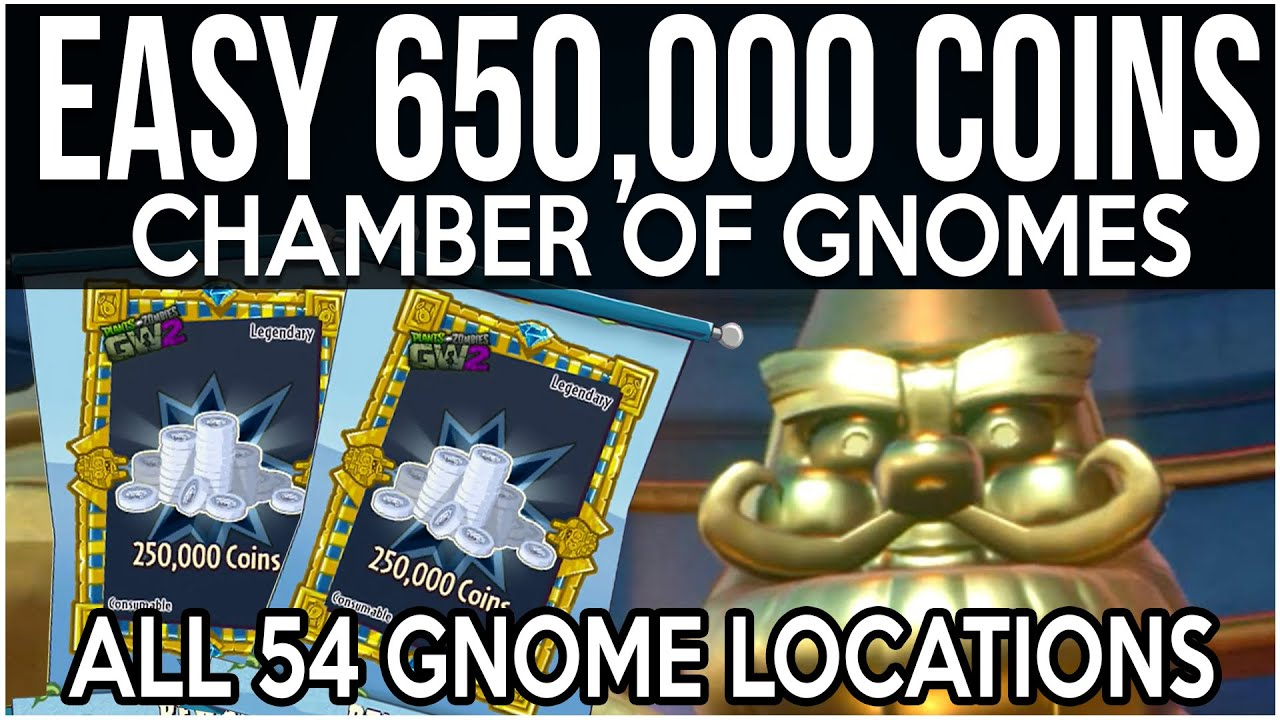 All 54 Golden Gnome Locations Plants Vs Zombies Garden Warfare 2 Fast Coins Youtube