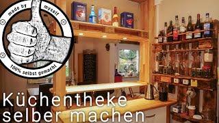 Küchen Bar, Theke  selber bauen, selber machen DIY Palettenmöbel