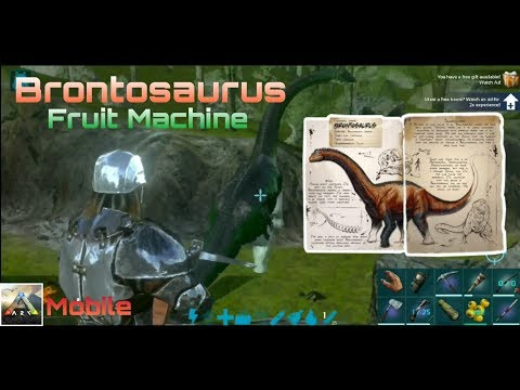 Ark: Survival Evolved Mobile (Taming Brontosaurus) Gameplay #1 (android)