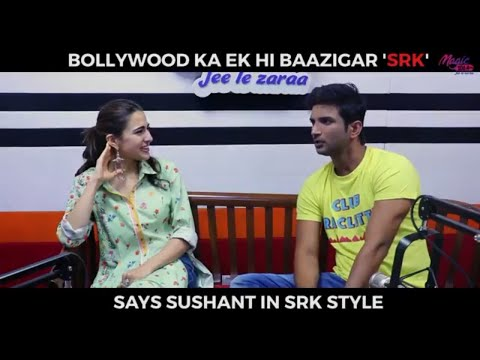 Mimicry of SRK by Sushant Singh Rajput during an interview with Sara Ali Khan