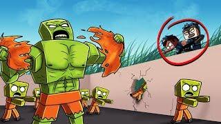 ZOMBIE PRISON DEFENSE CHALLENGE! (Minecraft Prison Zombies)