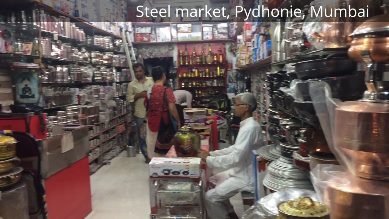 Mumbai famous stainless steel and vessel market  YouTube