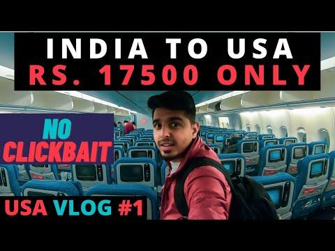 India to USA Cheap Flights | My USA Holiday begins with A380 | USA Travel Vlog 01