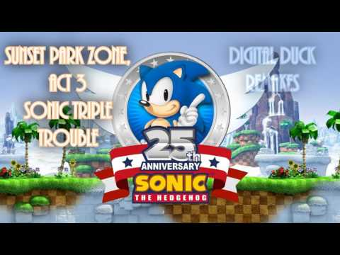 (Sonic 25th remake) Sunset Park Zone, Act 3 - Sonic Triple Trouble