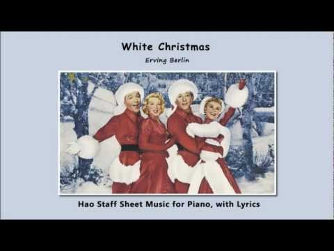 White Christmas - Easy Piano Video Sheet