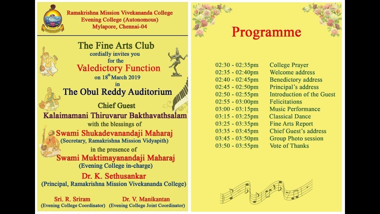 Fine Arts Club Valedictory Function 2019