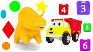 Aprender os números, os cores, as formas com Dino o Dinossauro & os carros  | Aprender em português